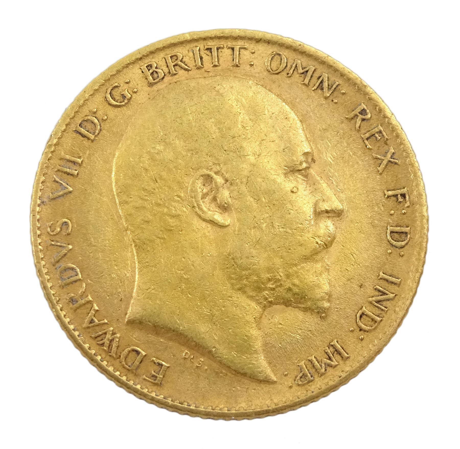 King Edward VII 1910 gold half sovereign coin