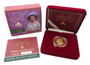 Queen Elizabeth II 2000 gold proof five pound coin