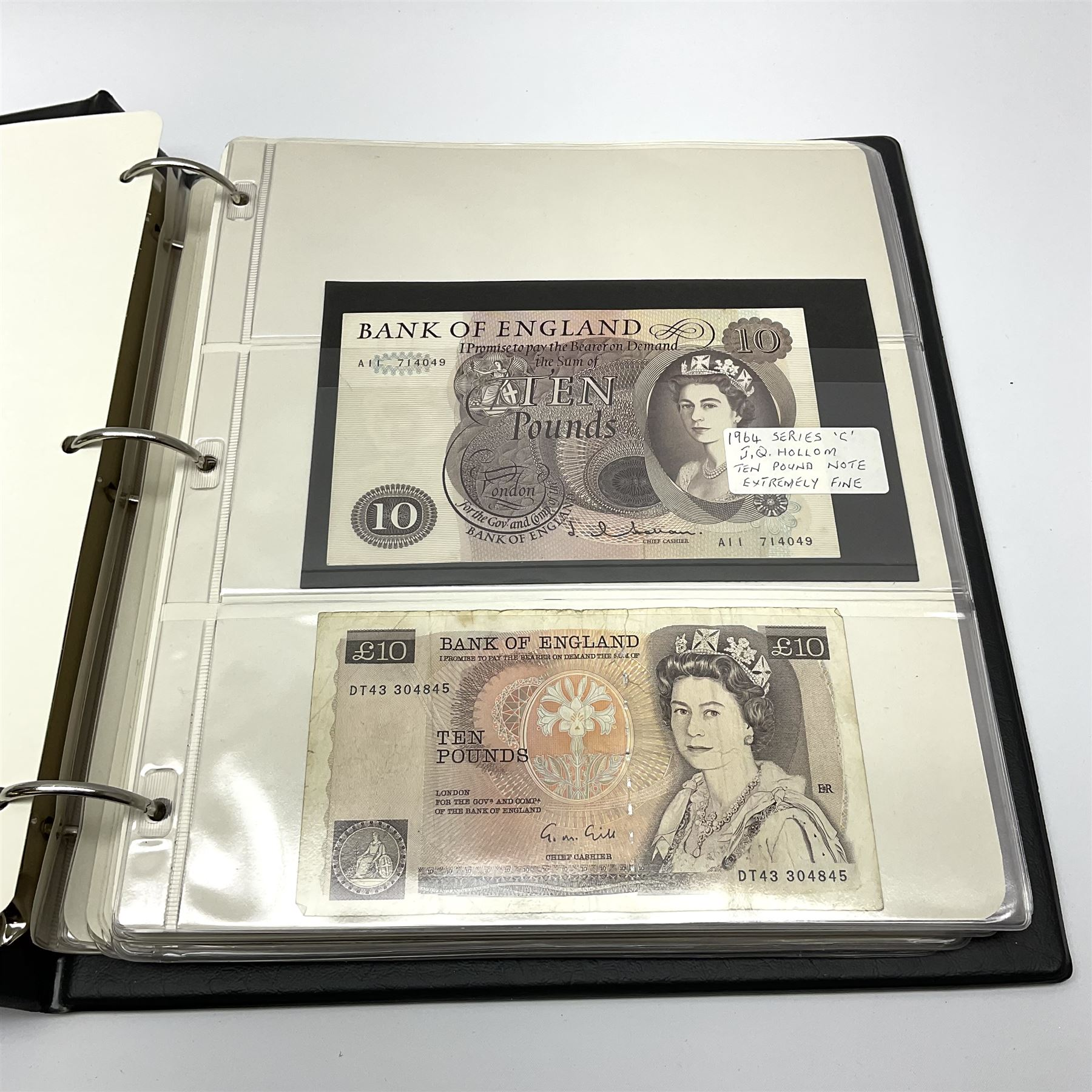 Album of mostly Great British banknotes including Peppiatt emergency issue one pound 'E57E' - Image 16 of 19