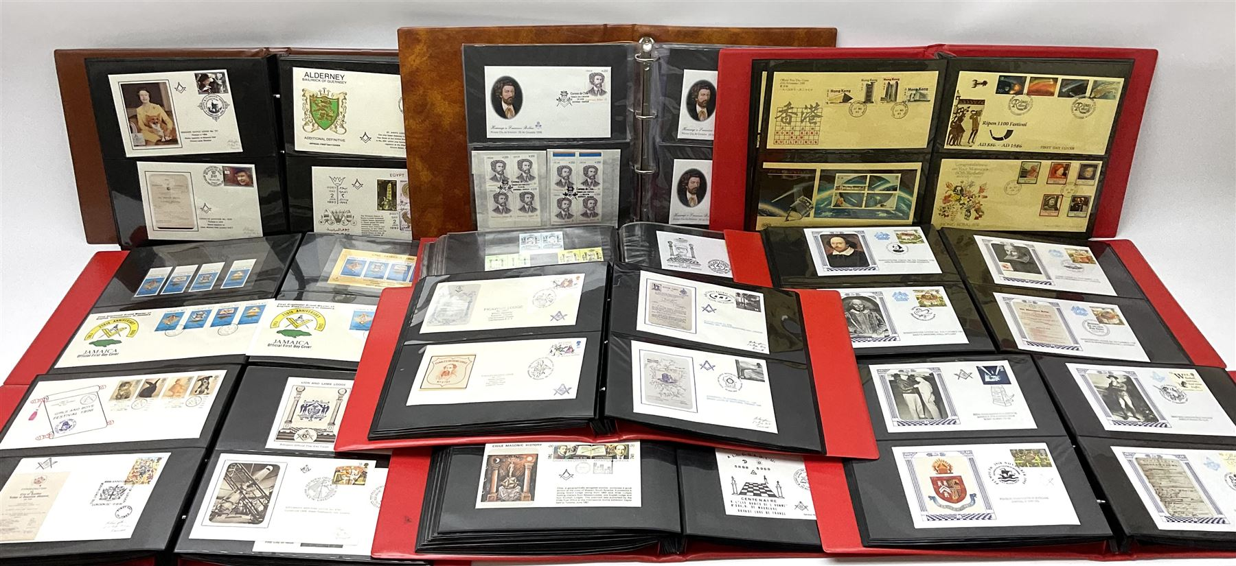 Predominantly Masonic interest first day covers and stamps including 'Royal Engineers Lodge No.2599'
