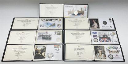 Seven Harrington & Byrne coin/medallion covers