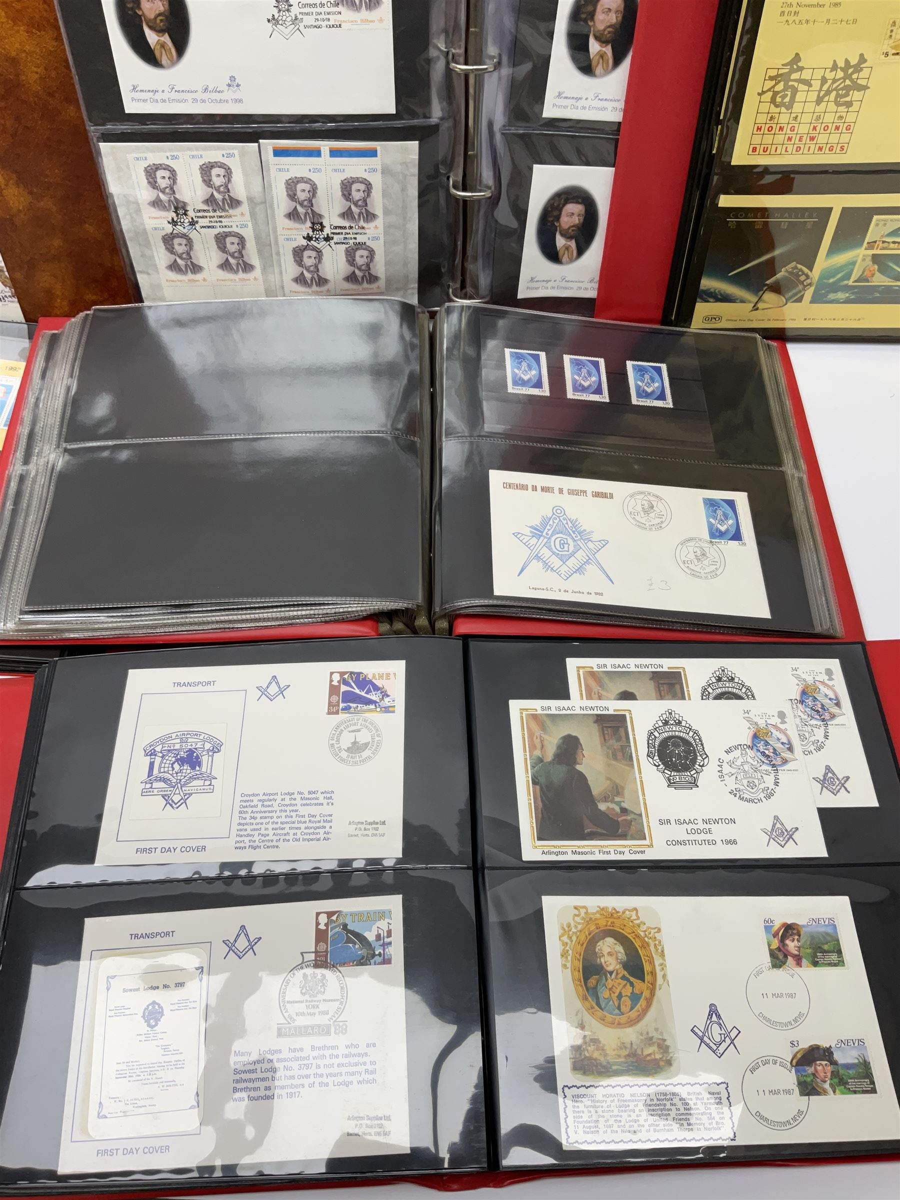 Predominantly Masonic interest first day covers and stamps including 'Royal Engineers Lodge No.2599' - Image 5 of 7