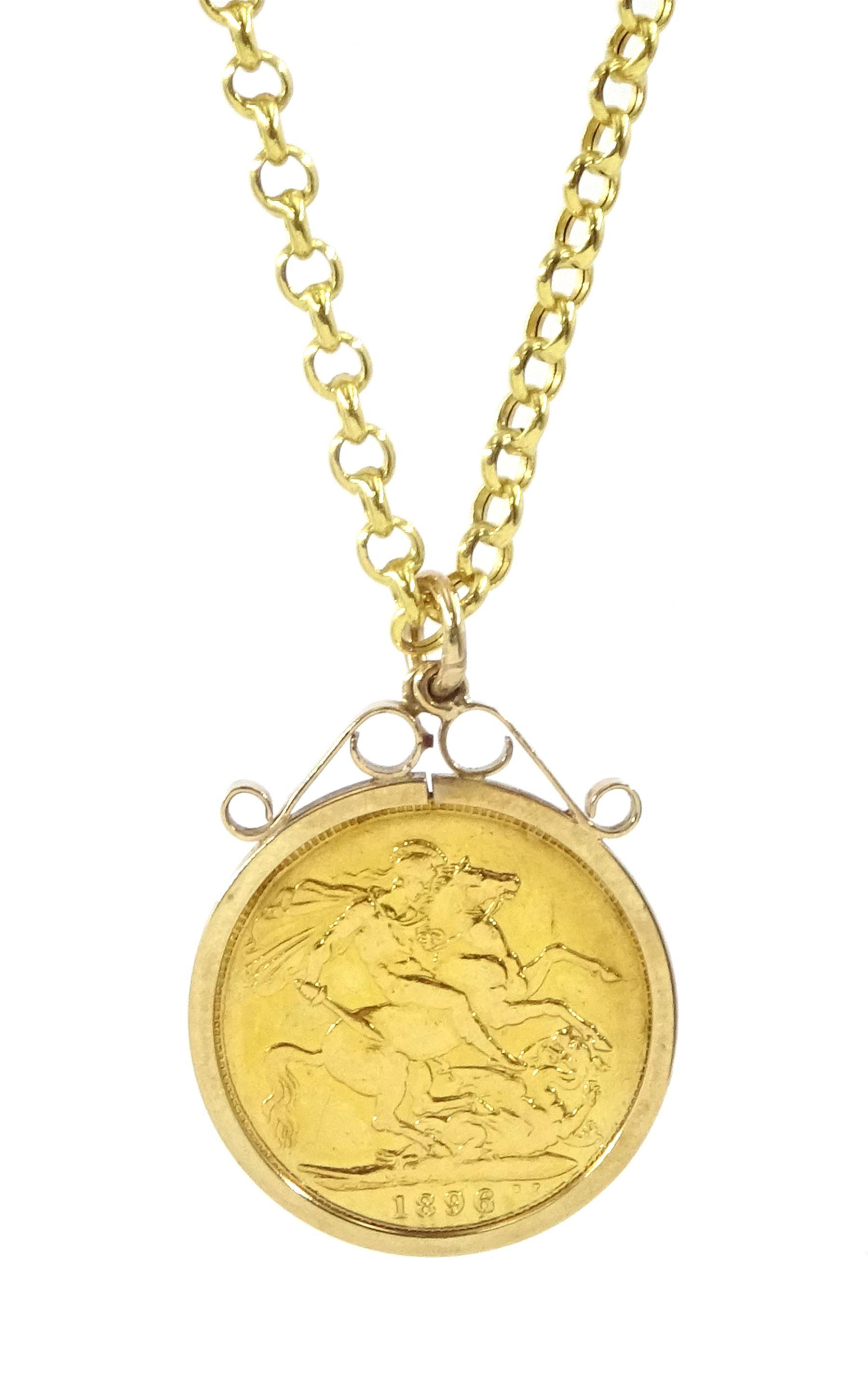 Queen Victoria 1896 gold full sovereign coin