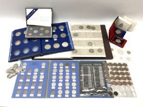 Mostly Canadian coins including 1967 six coin set