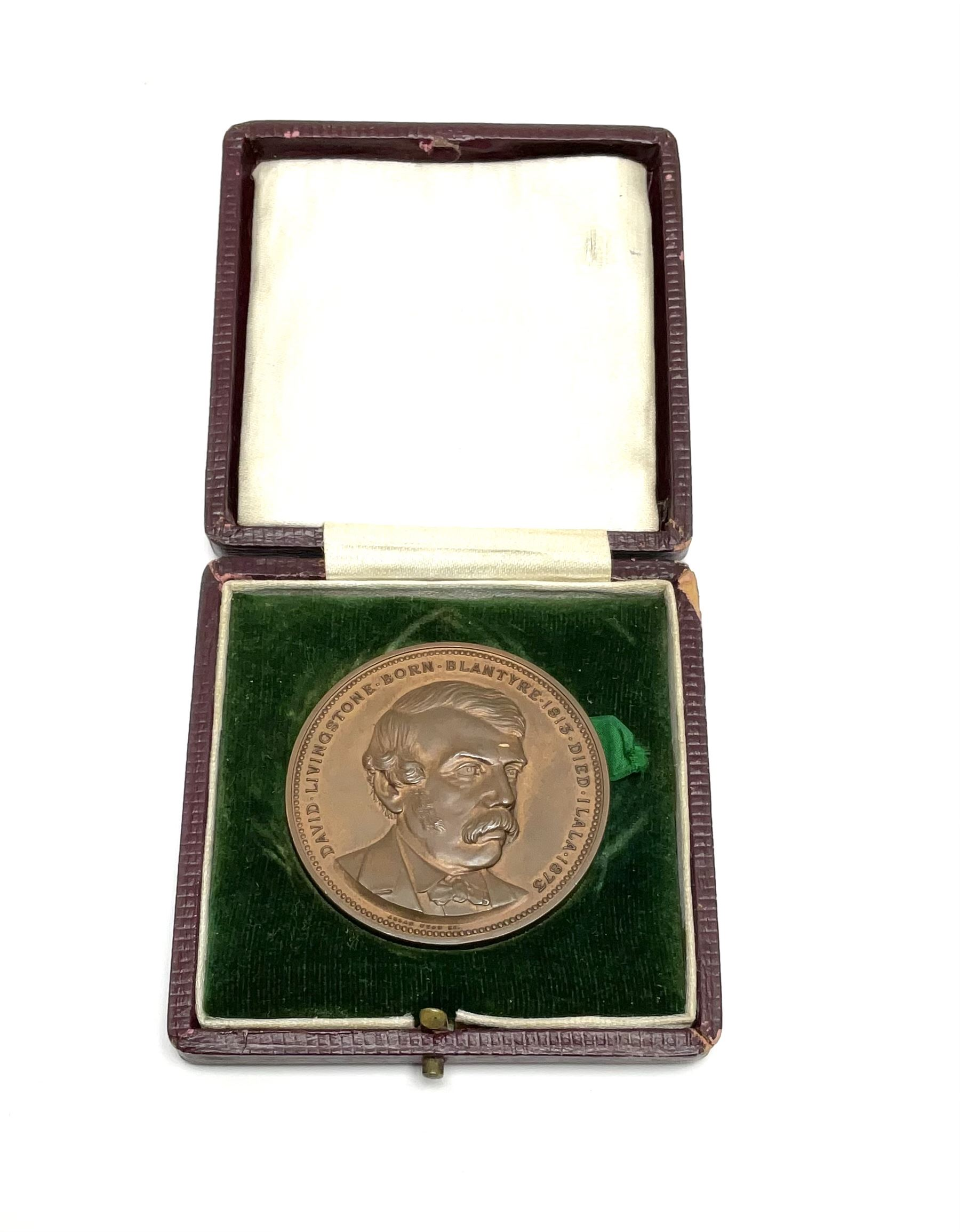 David Livingstone (1813-1873) commemorative medallion celebrating the Centenary of his birth
