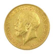 King George V 1926 gold full sovereign coin