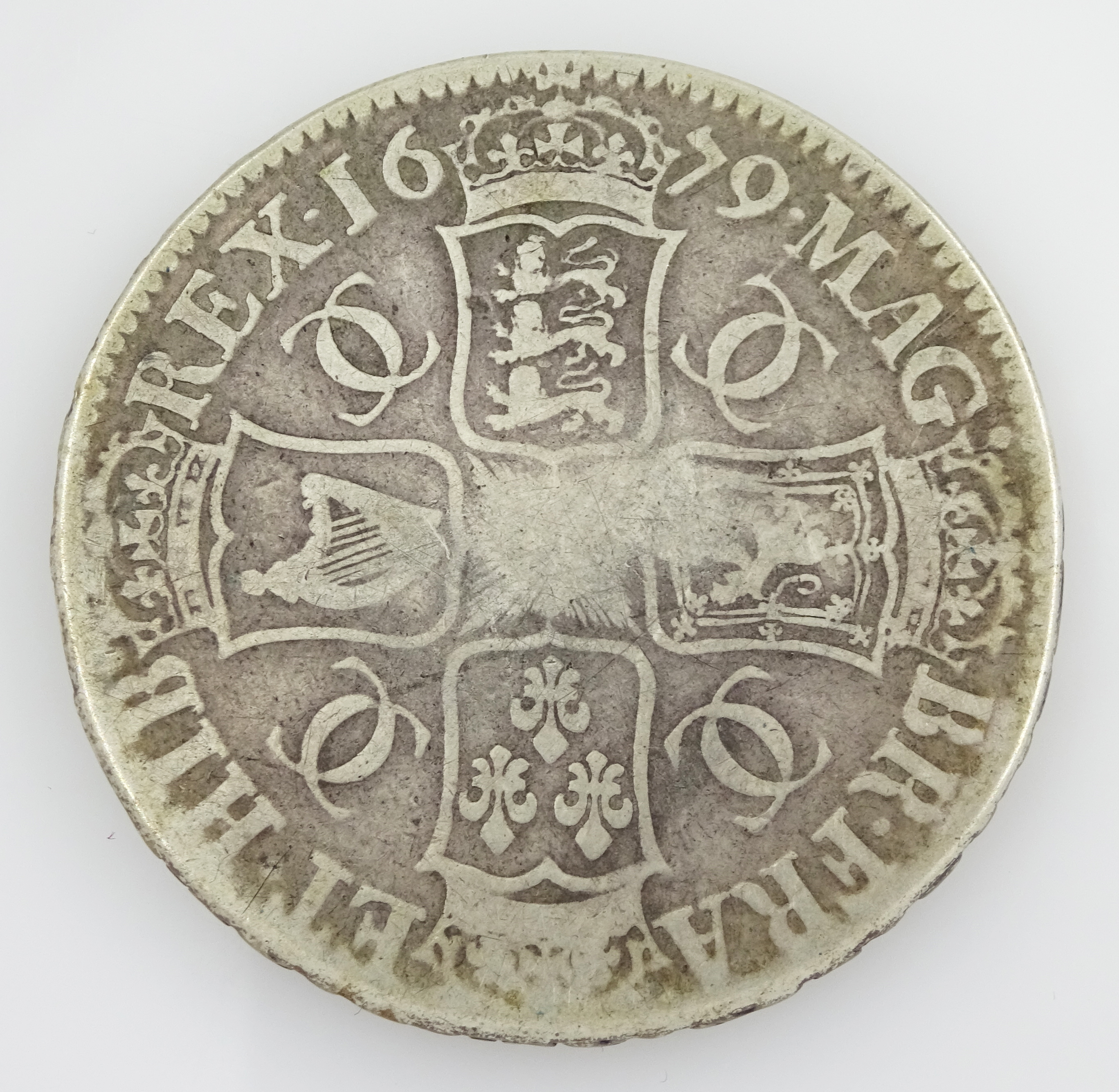 King Charles II 1679 crown coin - Image 3 of 3