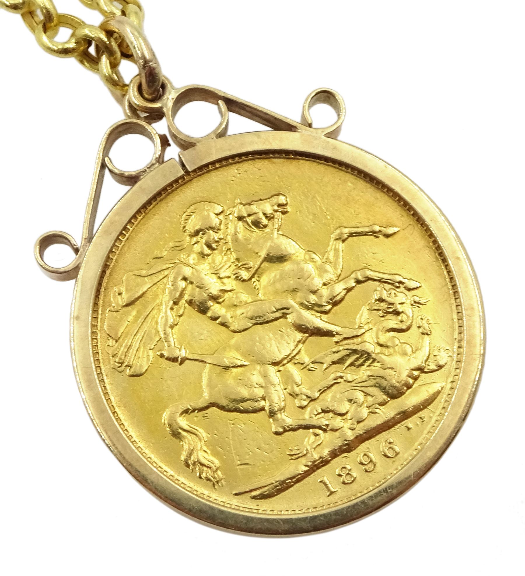 Queen Victoria 1896 gold full sovereign coin - Image 2 of 4