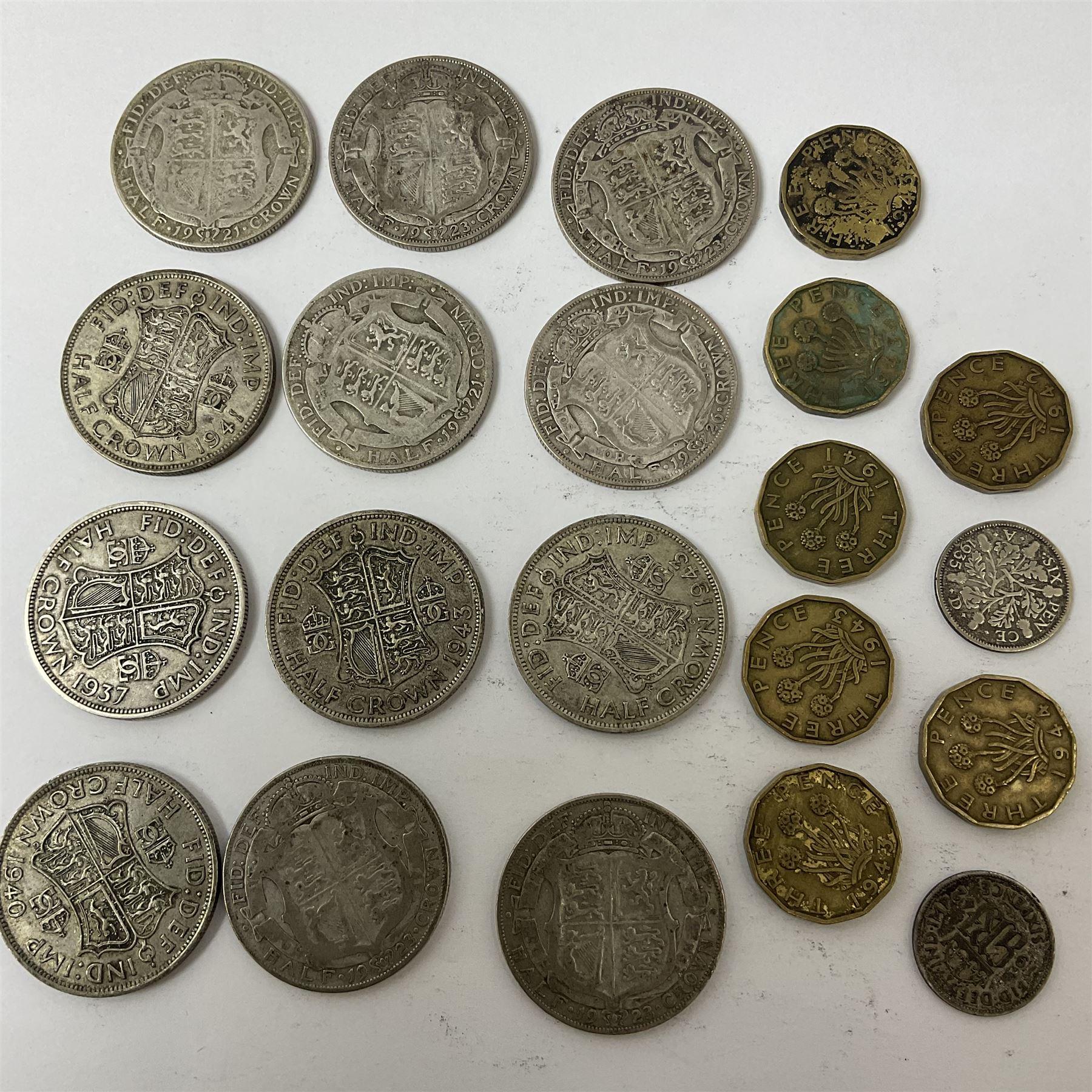 Twelve pre-1947 silver half crown coins - Image 4 of 5