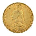 Queen Victoria 1888 gold full sovereign coin