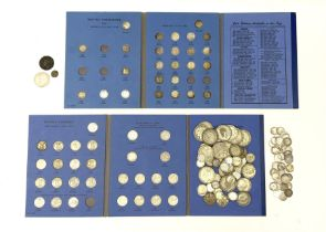 Coins including approximately 300 grams of pre 1947 Great British silver coins