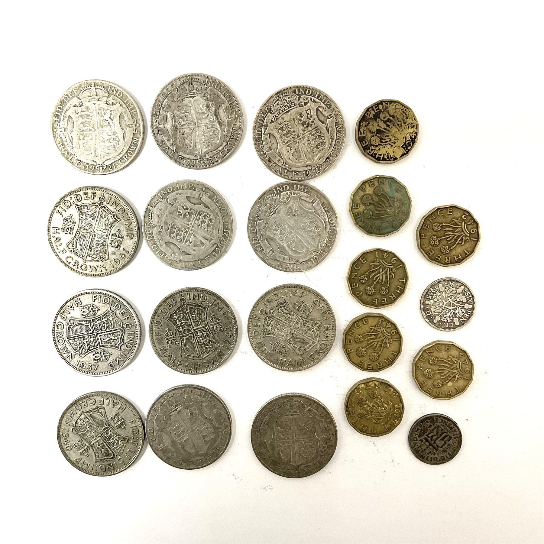 Twelve pre-1947 silver half crown coins - Image 3 of 5