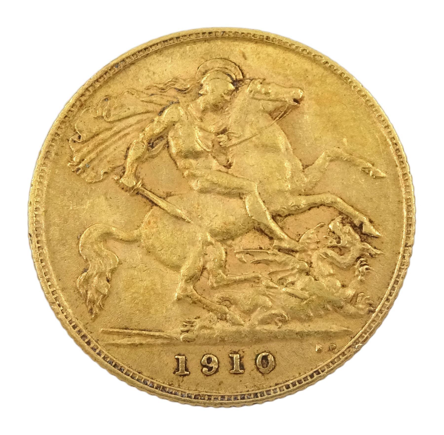 King Edward VII 1910 gold half sovereign coin - Image 2 of 2