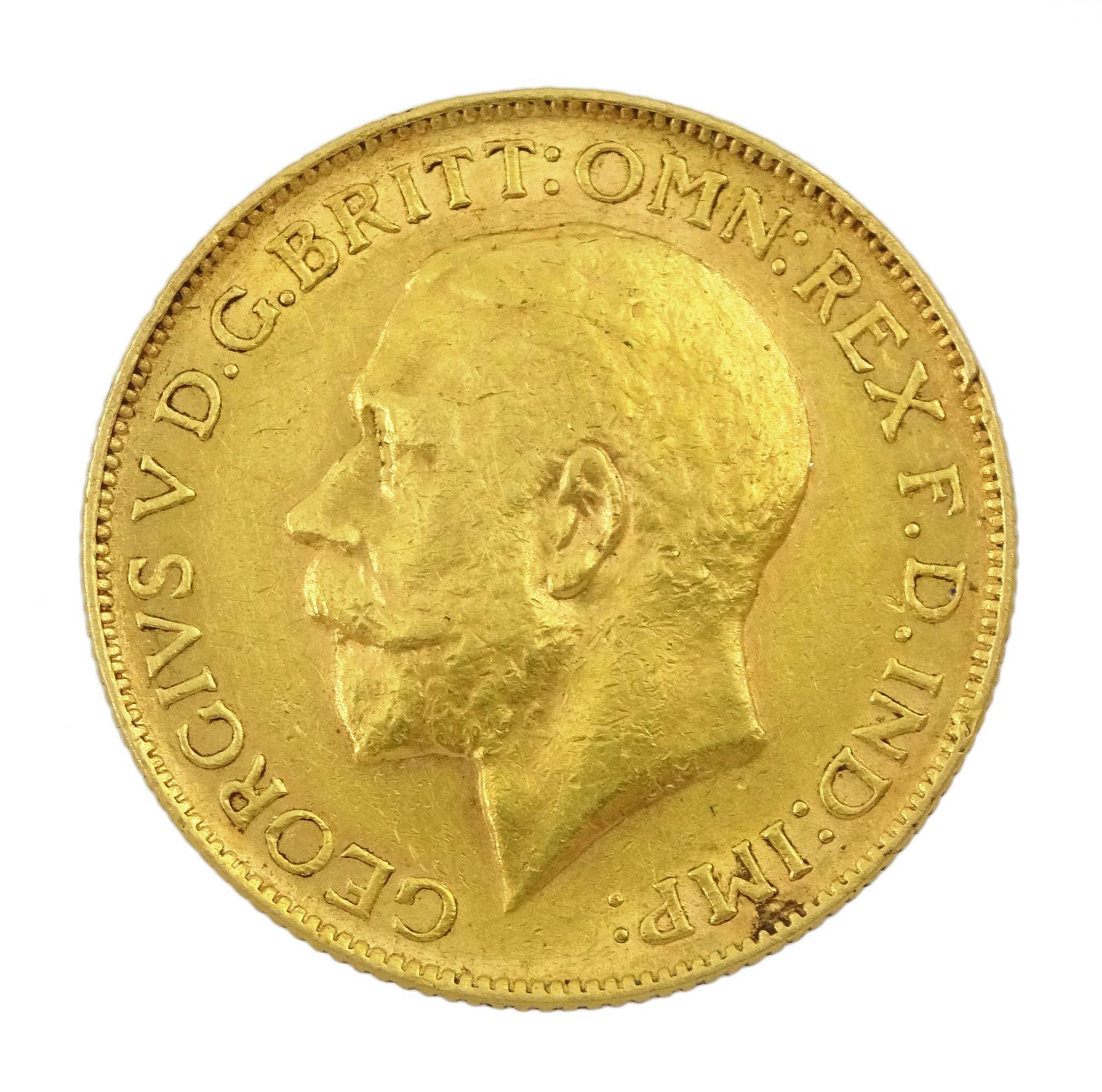 King George V 1912 gold full sovereign coin