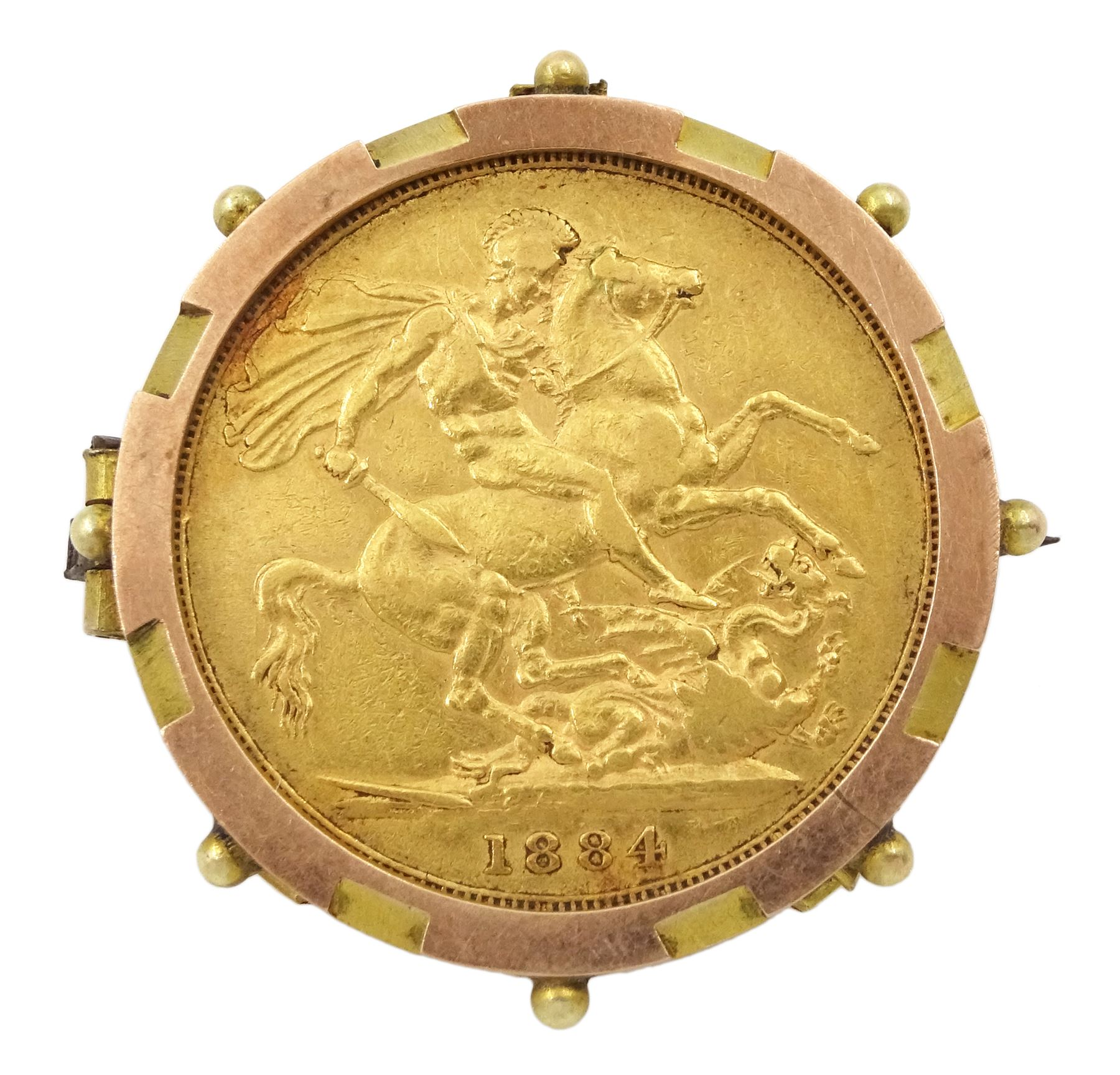 Queen Victoria 1884 gold full sovereign coin