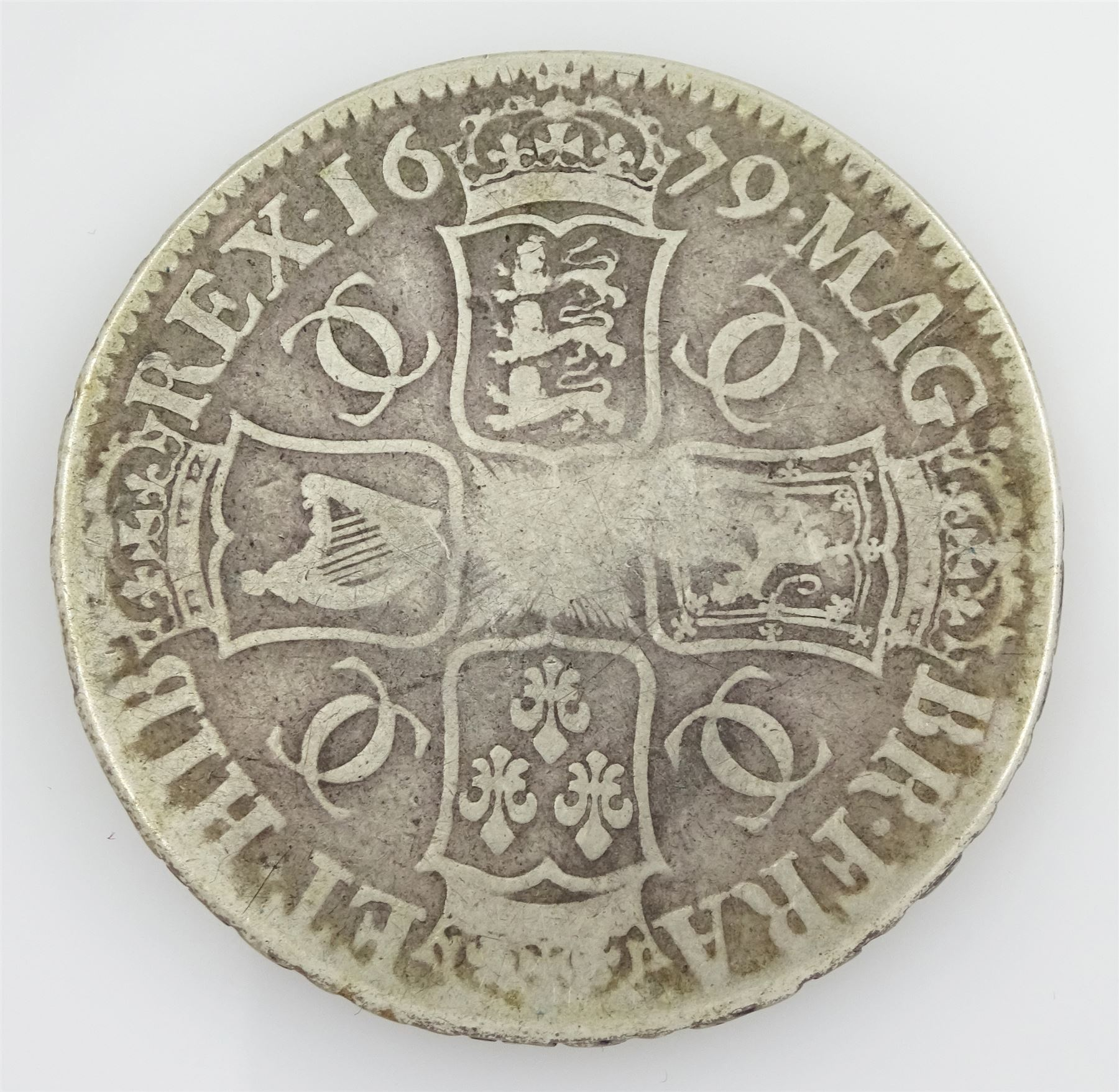 King Charles II 1679 crown coin - Image 2 of 3
