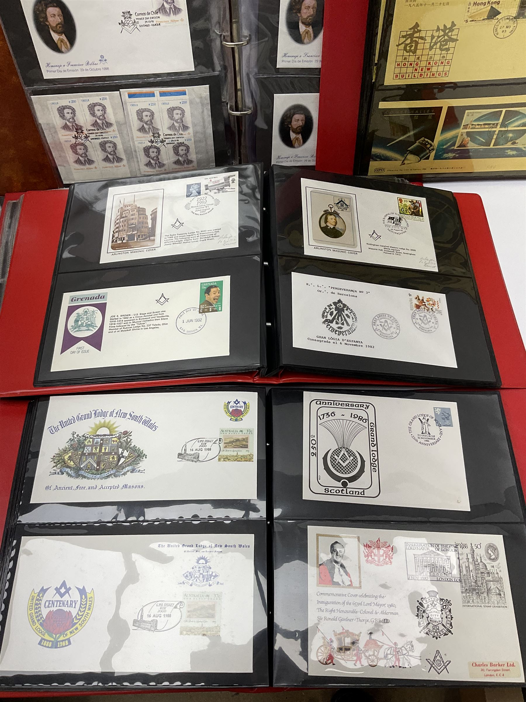 Predominantly Masonic interest first day covers and stamps including 'Royal Engineers Lodge No.2599' - Image 6 of 7
