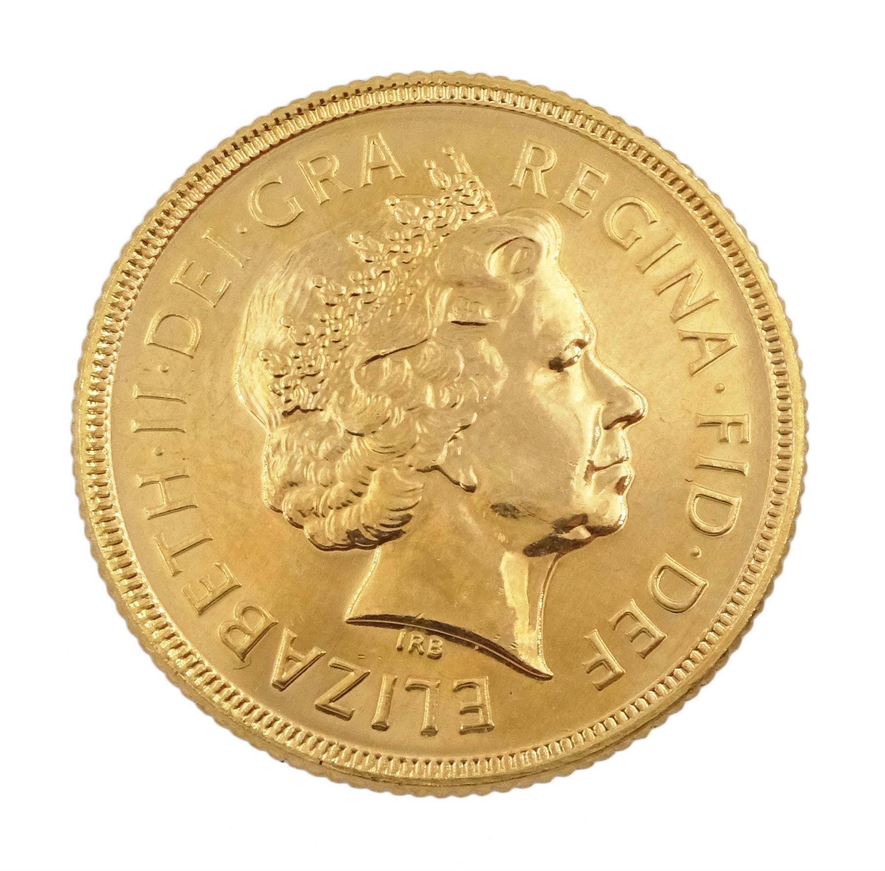 Queen Elizabeth II 2000 gold full sovereign coin - Image 2 of 3