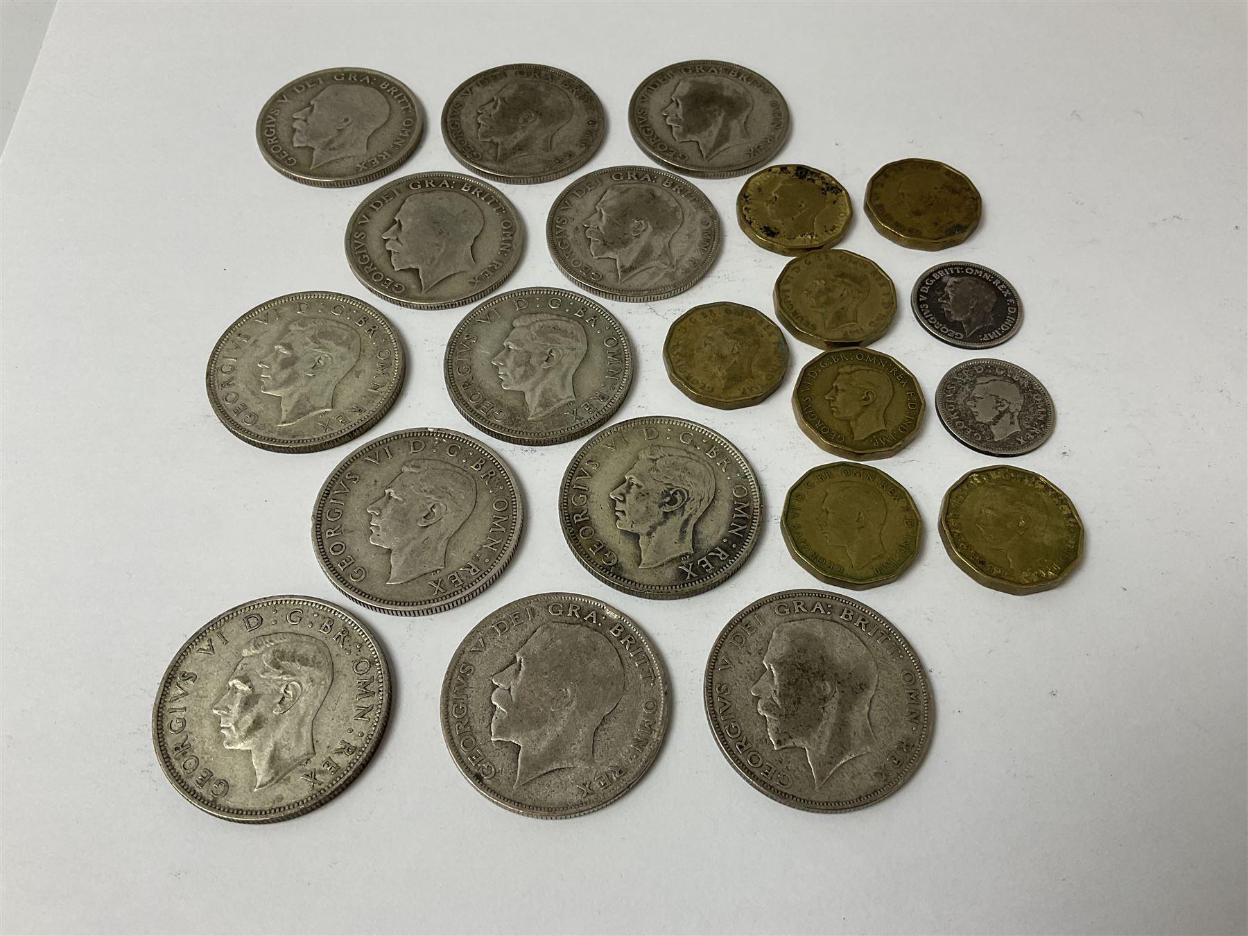 Twelve pre-1947 silver half crown coins - Image 5 of 5