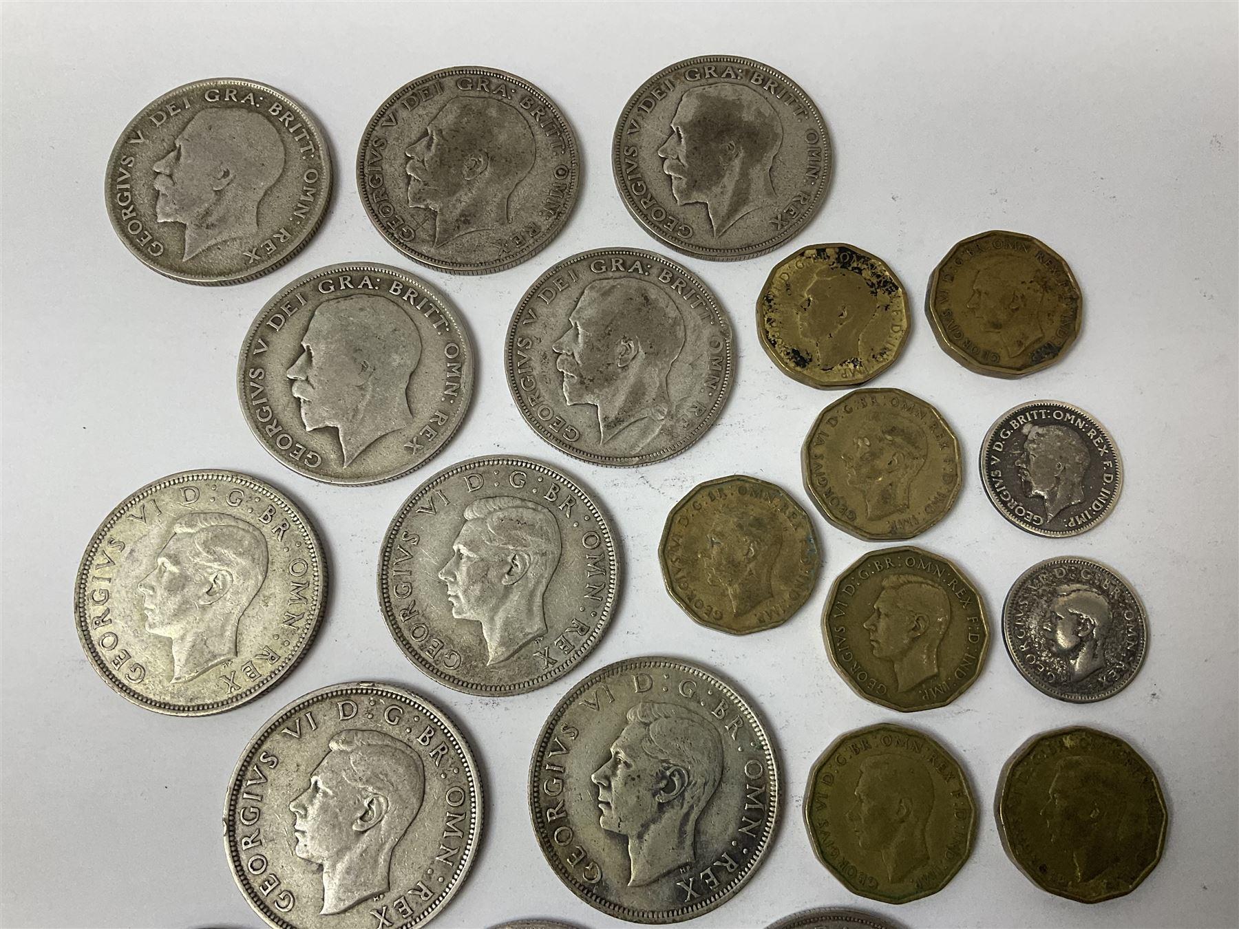 Twelve pre-1947 silver half crown coins - Image 2 of 5