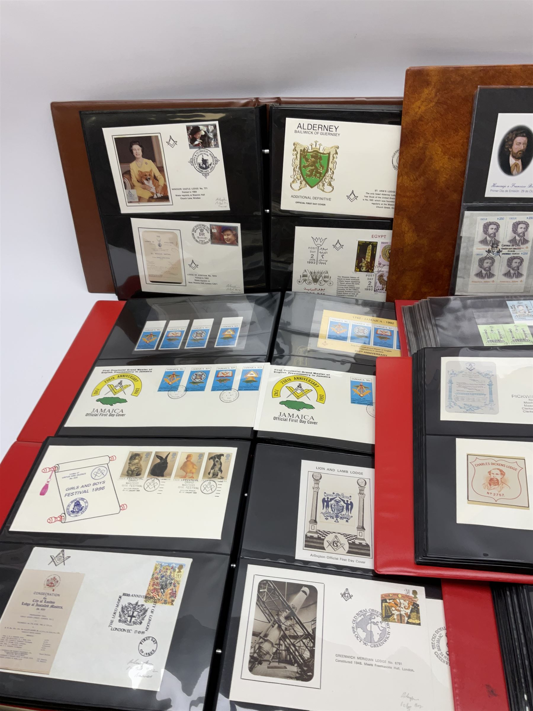 Predominantly Masonic interest first day covers and stamps including 'Royal Engineers Lodge No.2599' - Image 2 of 7