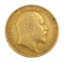 King Edward VII 1907 gold half sovereign coin
