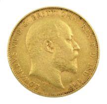 King Edward VII 1905 gold full sovereign coin
