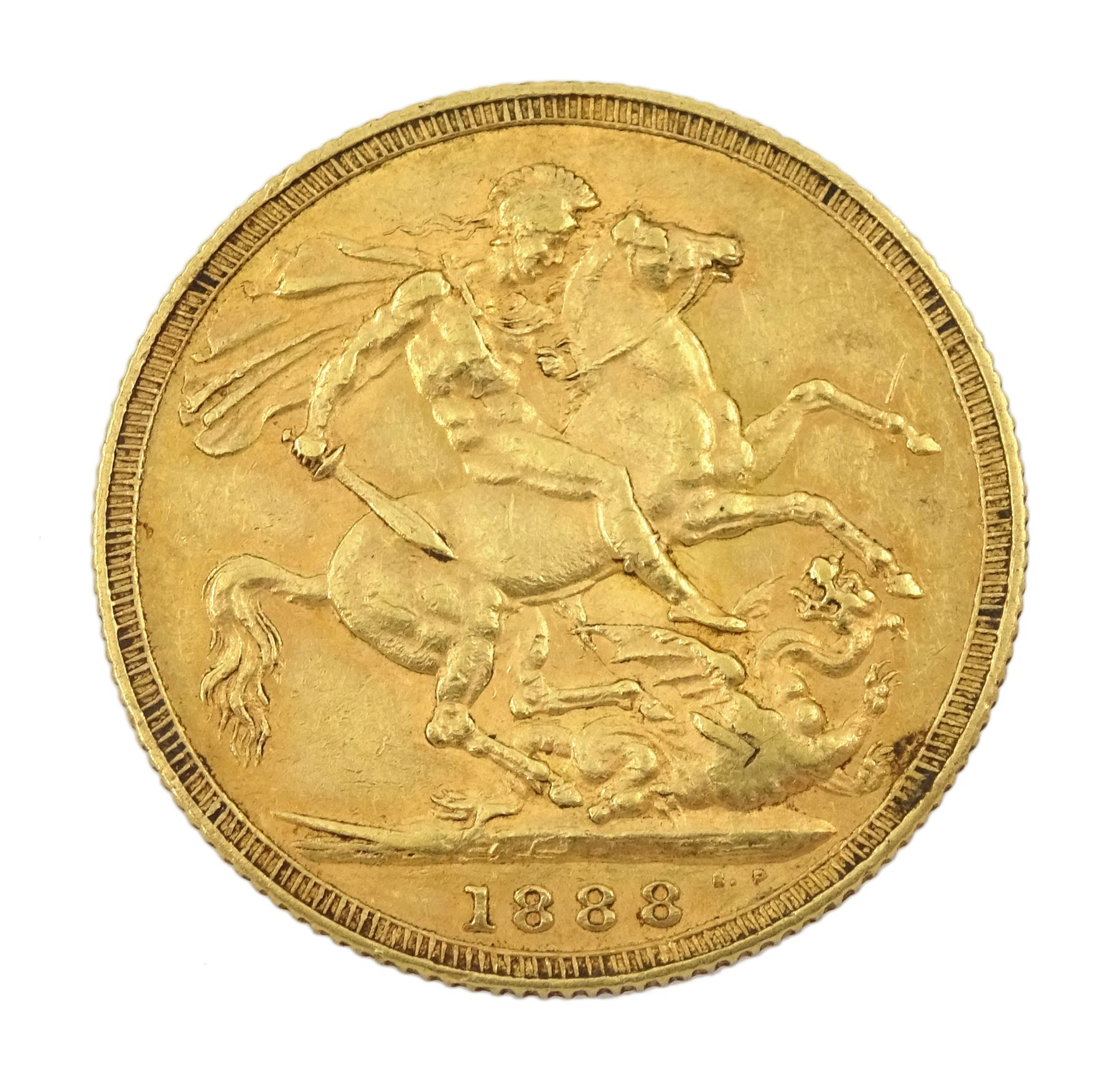 Queen Victoria 1888 gold full sovereign coin - Image 2 of 2