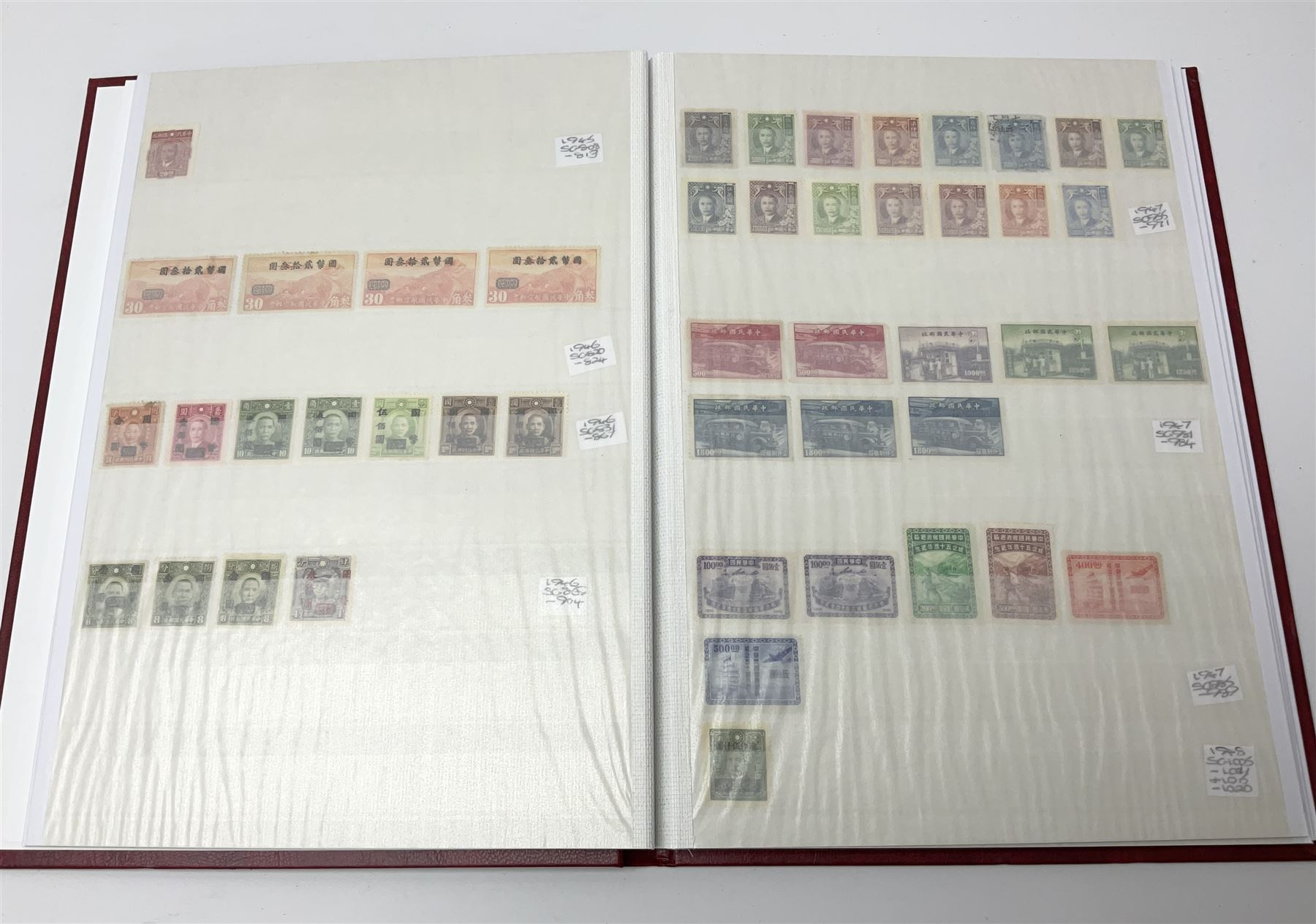 Mostly Chinese stamps in one stockbook