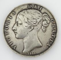 Queen Victoria 1844 crown coin