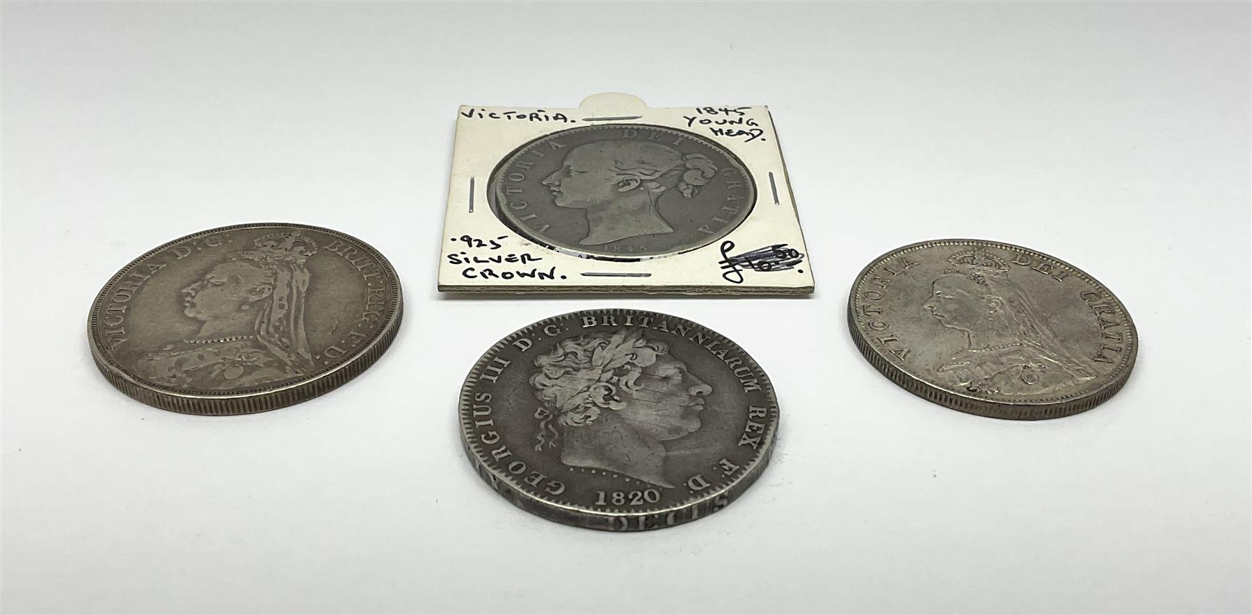 King George III 1920 crown - Image 2 of 4