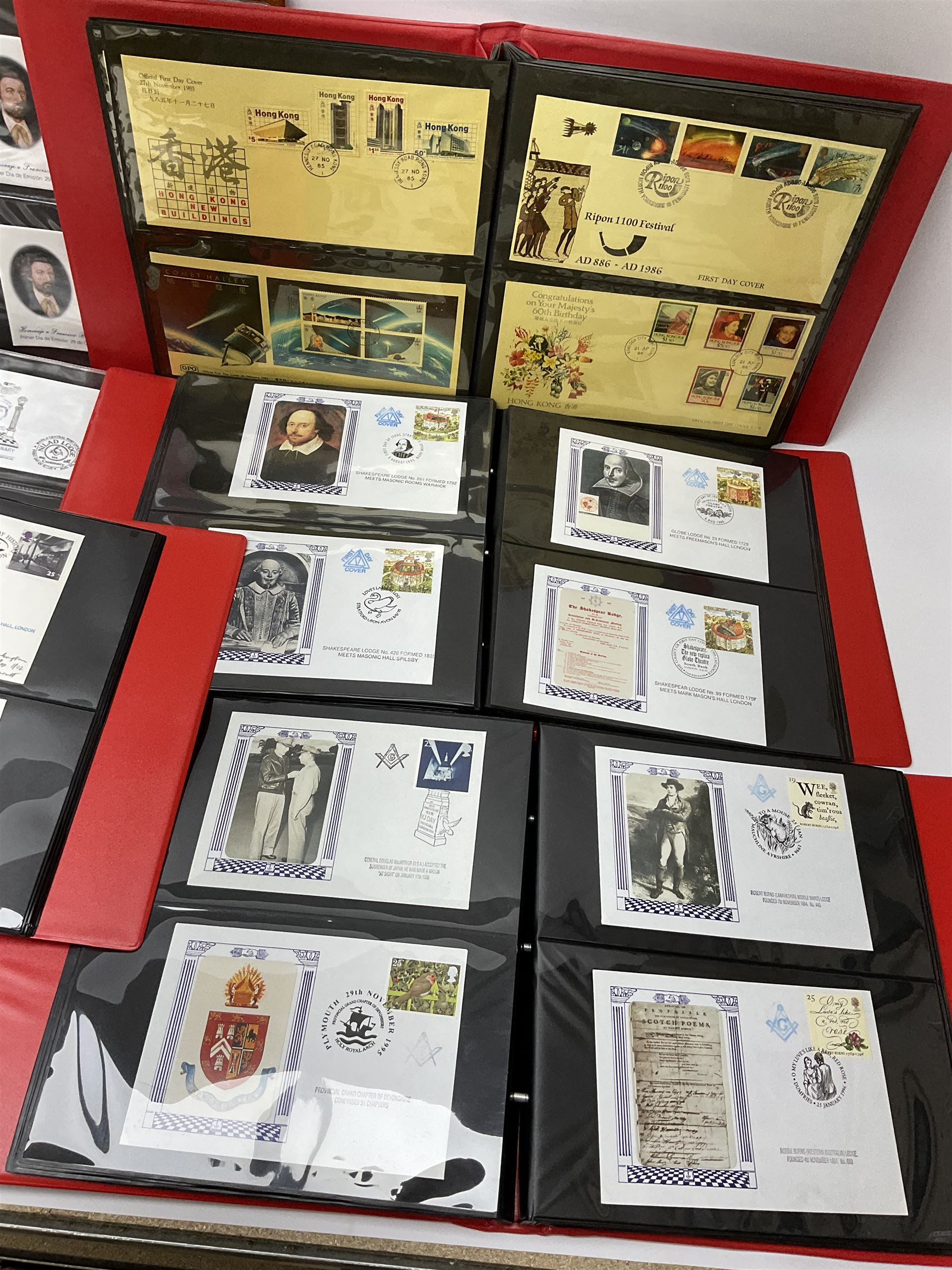 Predominantly Masonic interest first day covers and stamps including 'Royal Engineers Lodge No.2599' - Image 4 of 7