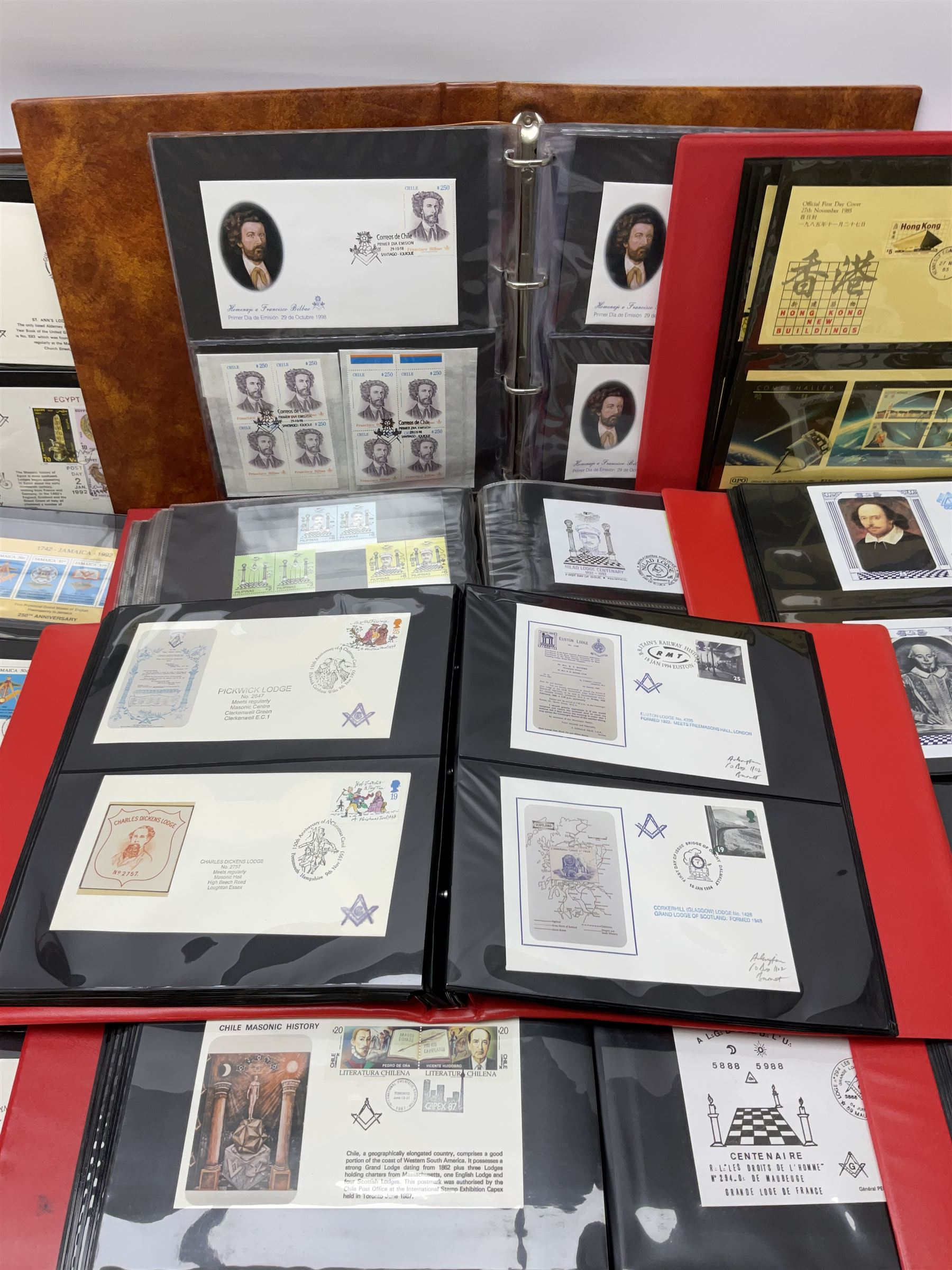 Predominantly Masonic interest first day covers and stamps including 'Royal Engineers Lodge No.2599' - Image 3 of 7