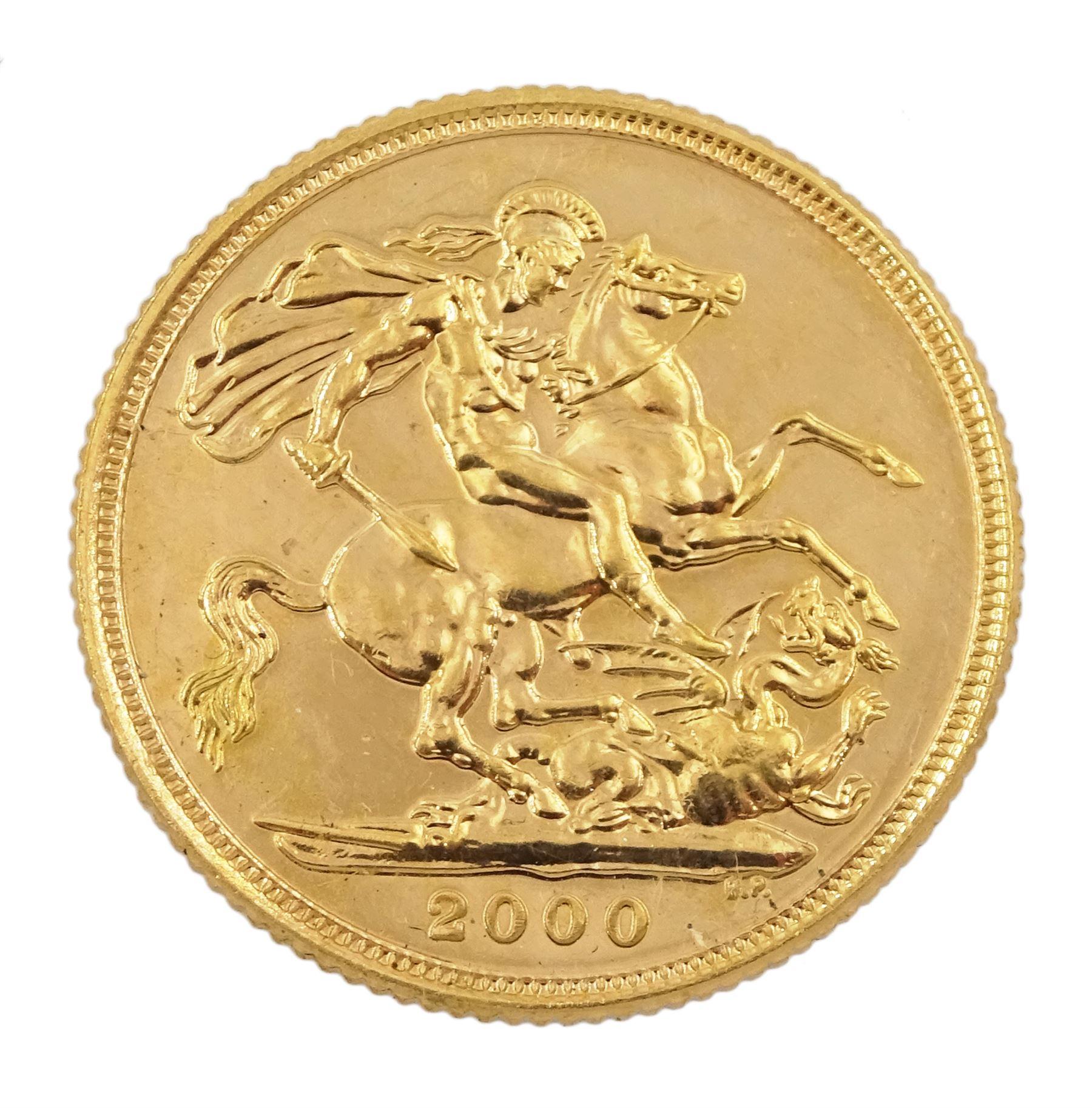 Queen Elizabeth II 2000 gold full sovereign coin - Image 3 of 3