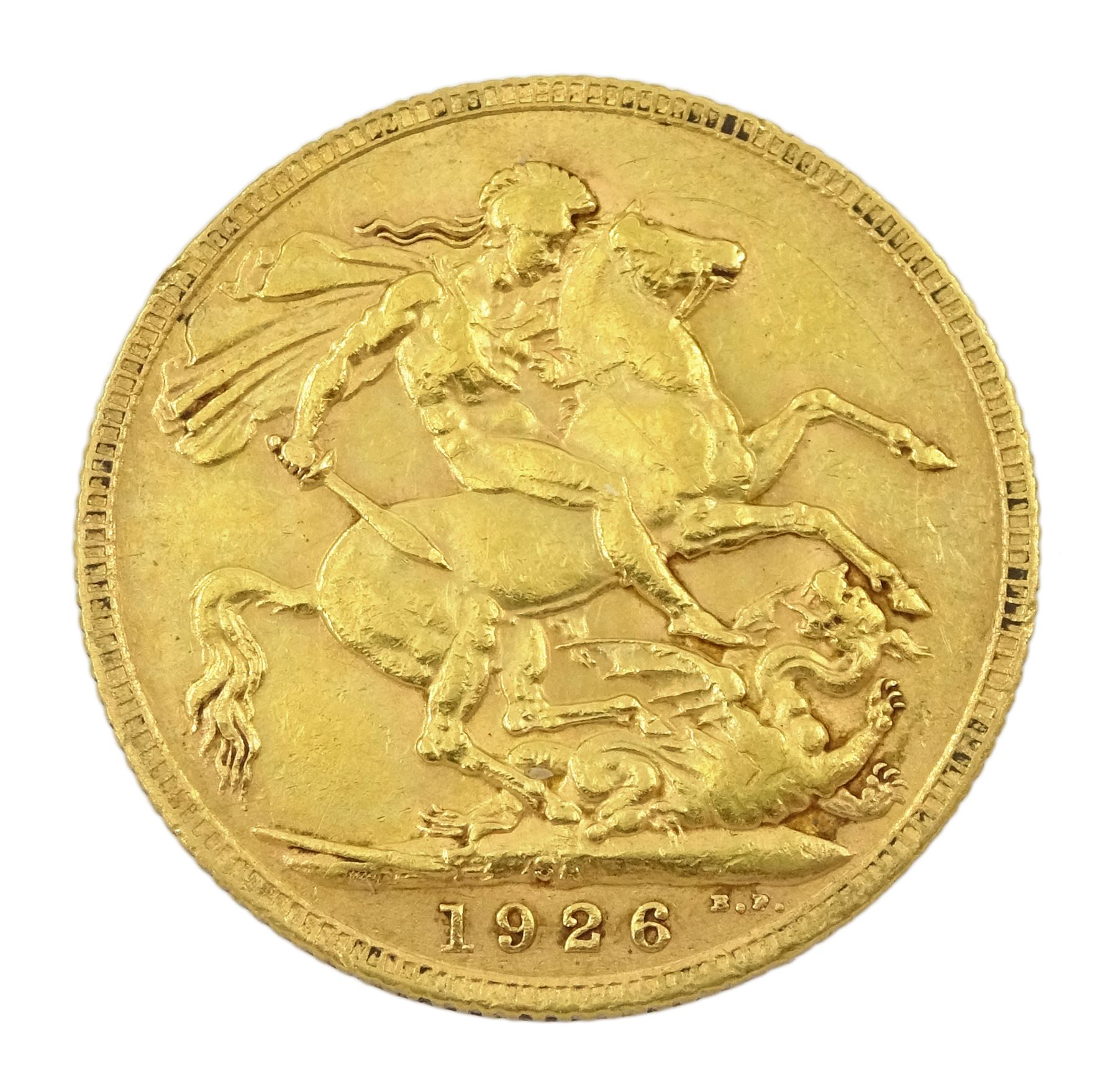 King George V 1926 gold full sovereign coin - Image 2 of 2