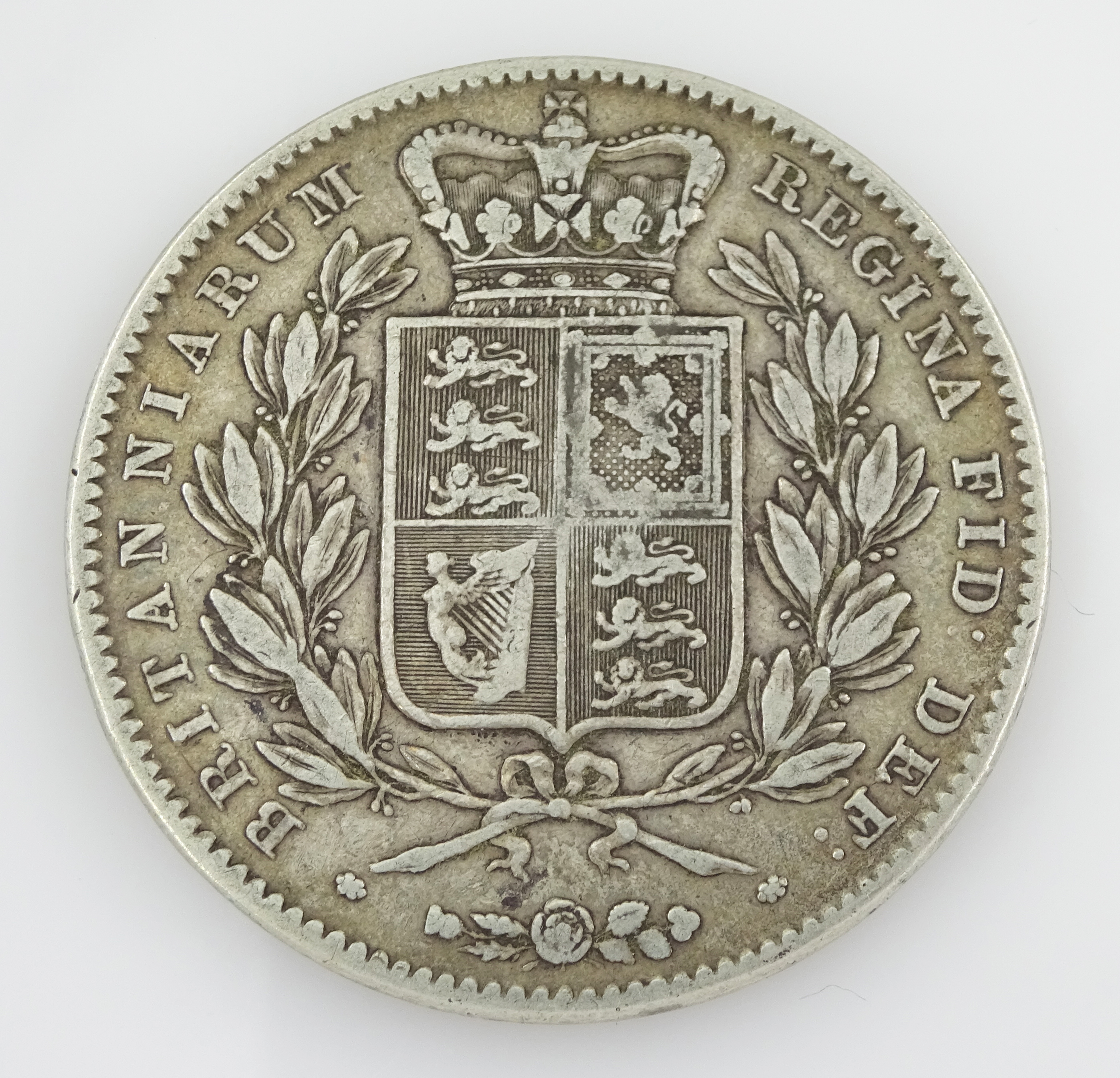 Queen Victoria 1847 crown coin - Image 2 of 2