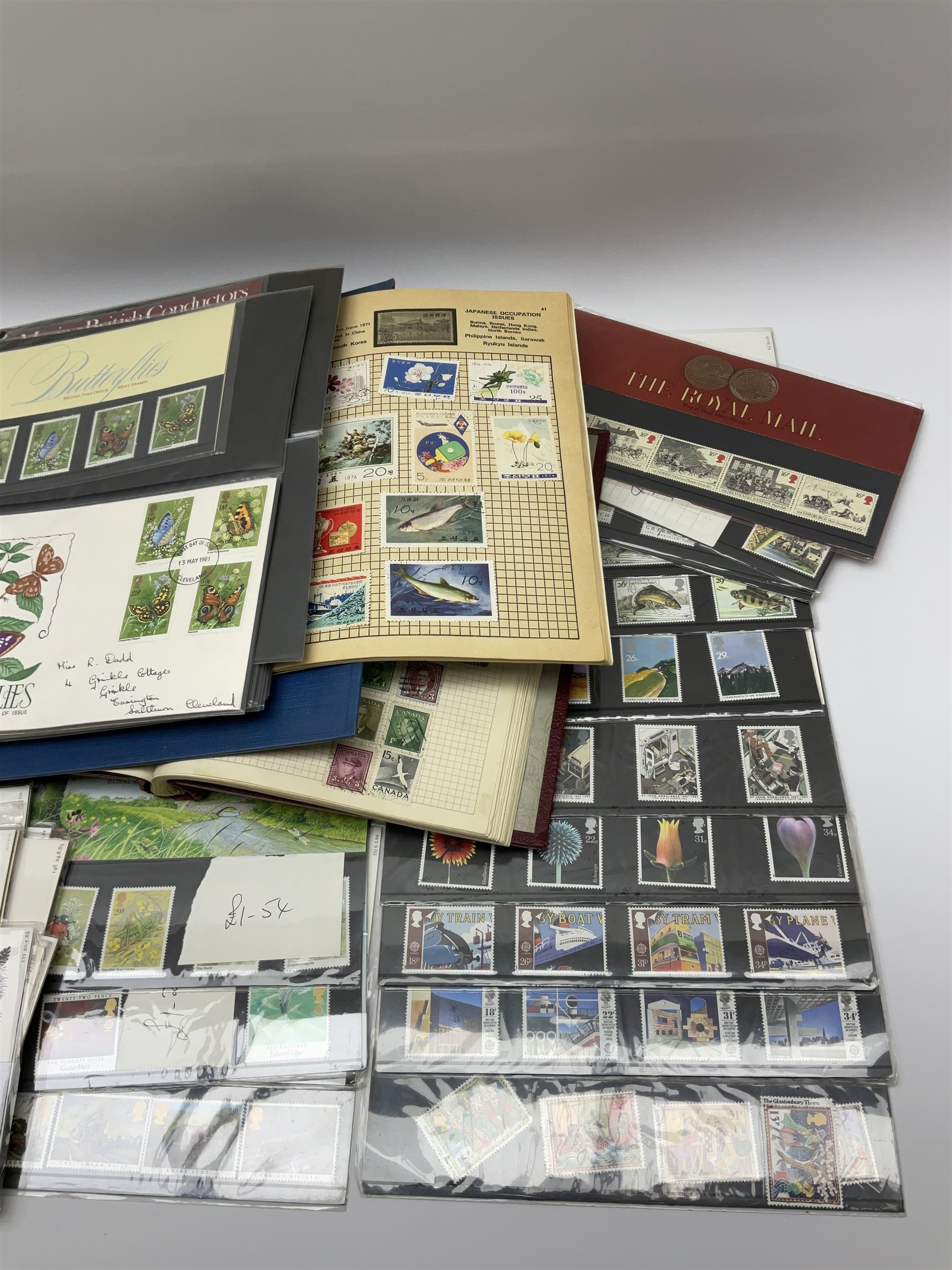 Great British and World stamps in albums and loose including Canada - Image 4 of 7