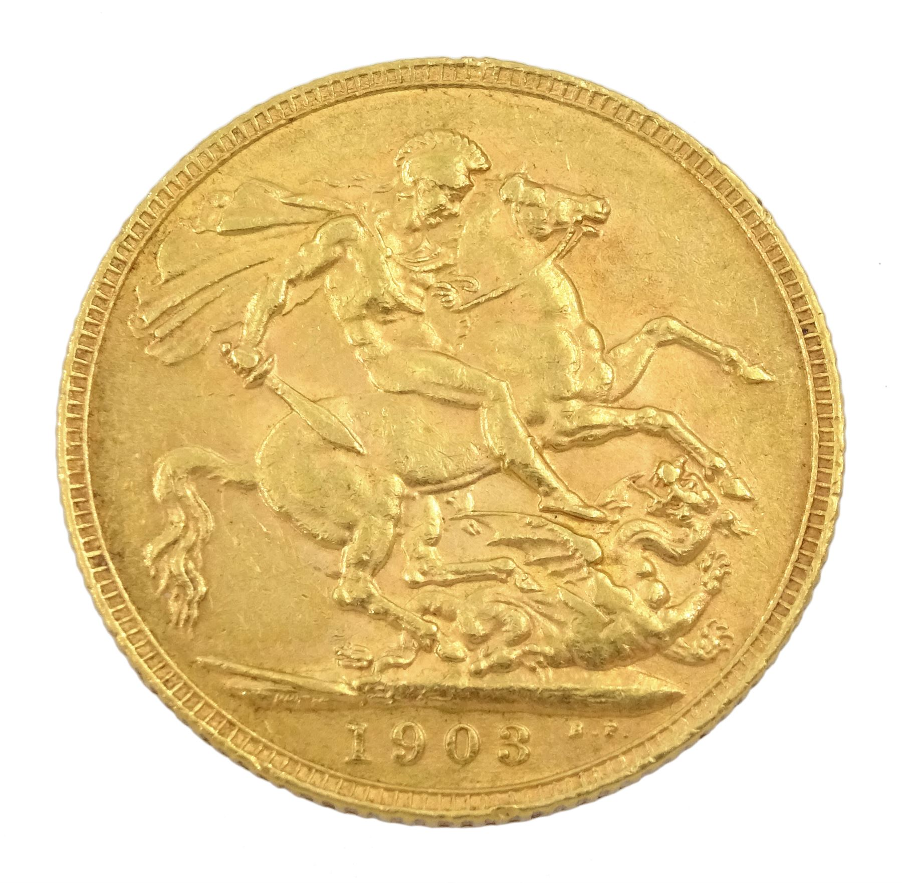 King Edward VII 1903 gold full sovereign coin - Image 2 of 2