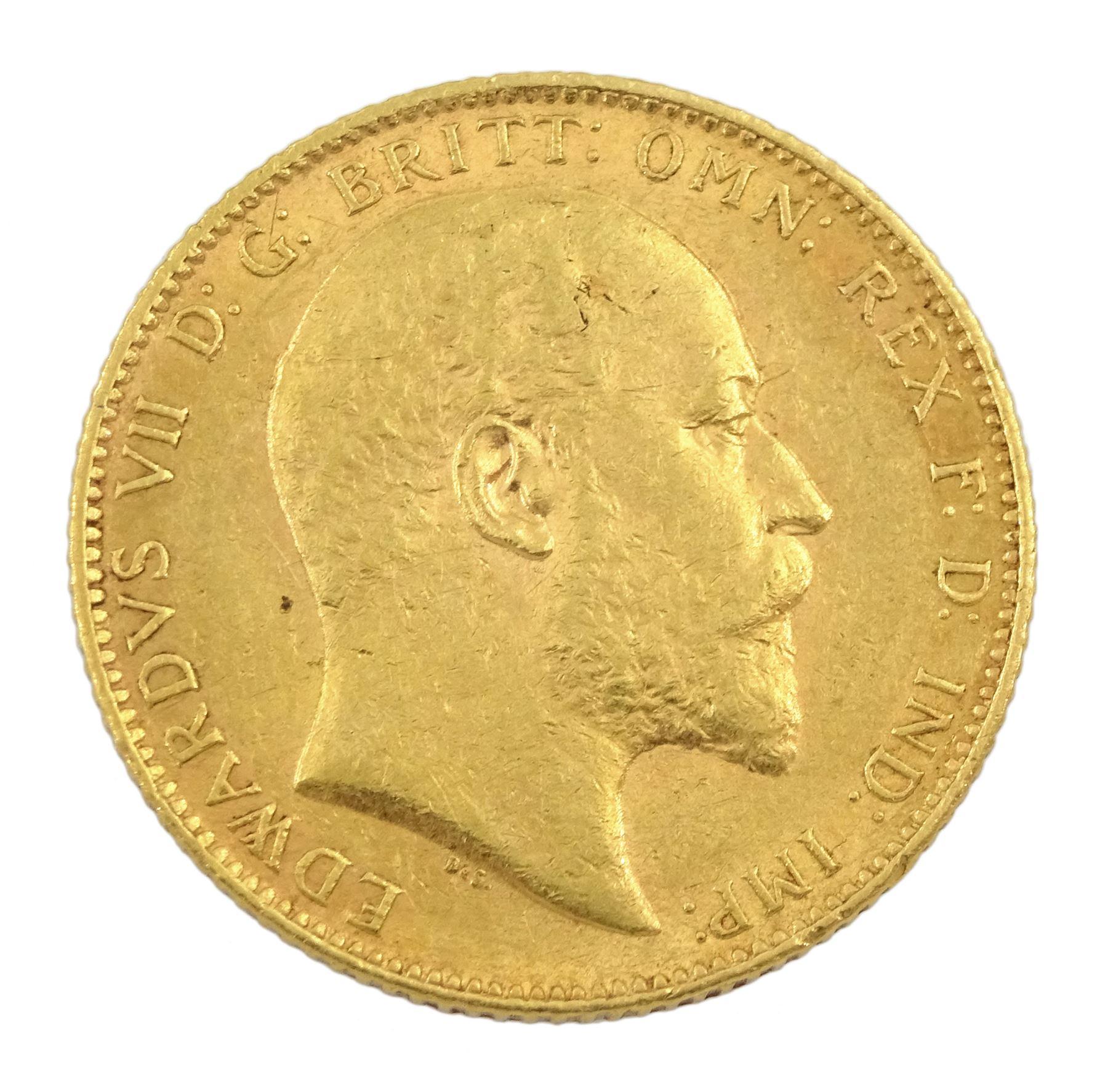 King Edward VII 1903 gold full sovereign coin