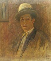 Paul Paul (Staithes Group 1865-1937): Self Portrait