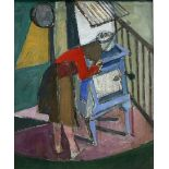 James Neal (Northern British 1918-2011): 'Doreen (the artist's wife) at the Oven'