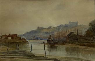 Albert George Stevens (Staithes Group 1863-1925): Whitehall and Upper Harbour Whitby