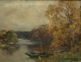 Owen Bowen (Staithes Group 1873-1967): Punting on the River