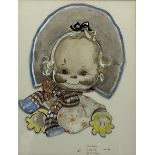 Mabel Lucie Attwell (British 1879-1964): 'Here's a Cheerio from Me'