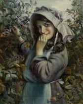Albert George Stevens (Staithes Group 1863-1925): Picking Blackberries