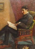 Paul Paul (Staithes Group 1865-1937): Portrait of a Gentleman