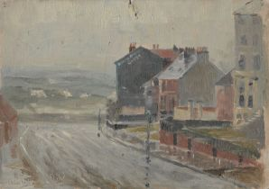 Frank Henry Mason (Staithes Group 1875-1965): North Riding Hotel 'North Marine Road' Scarborough