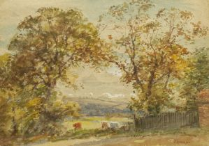 John Atkinson (Staithes Group 1863-1924): Wooded Landscape with Cattle