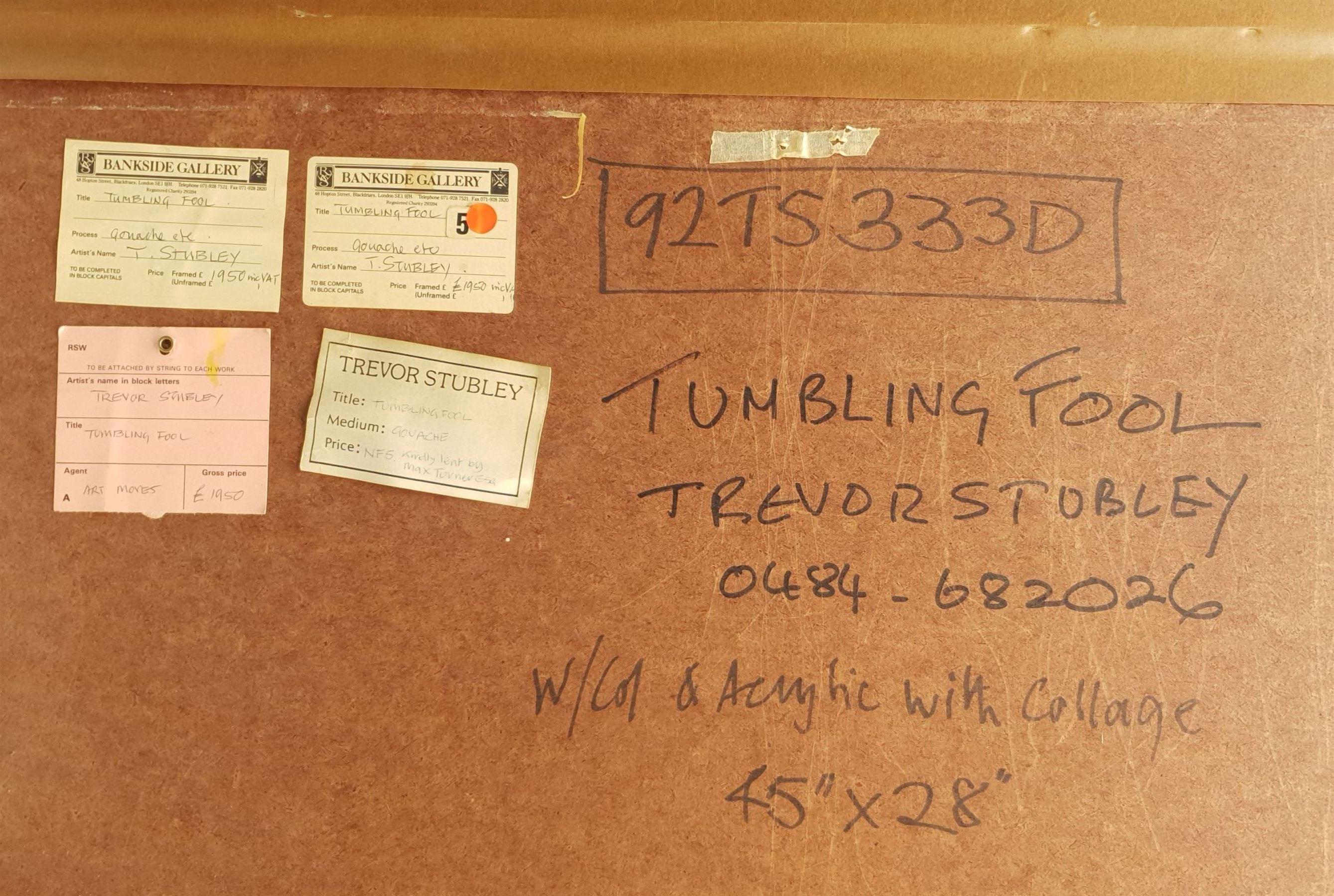 Trevor Hugh Stubley (British 1932-2010): 'Tumbling Fool' - Image 5 of 5