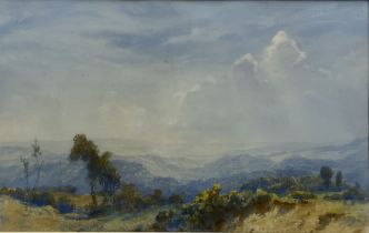 John Spence Ingall (Staithes Group 1850-1936): North Yorkshire Moors Landscape